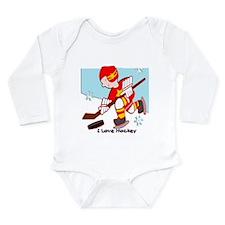 Cute Hockey humor Onesie Romper Suit