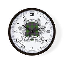 Shaw Tartan Shield Wall Clock