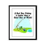 A Bad Day Fishing... Framed Panel Print