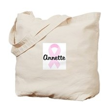 Annette pink ribbon Tote Bag