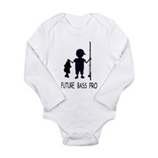Cute Walleye fishing Long Sleeve Infant Bodysuit