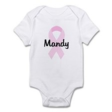 Mandy pink ribbon Infant Bodysuit