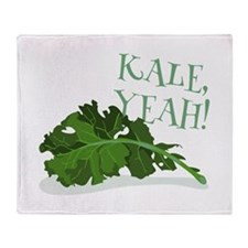 Kale Yeah Throw Blanket