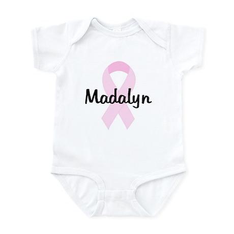 Madalyn pink ribbon Infant Bodysuit