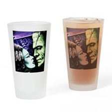 Monsters in Love Bride & Frankie Drinking Glass