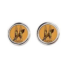 The Palmach Logo Round Cufflinks
