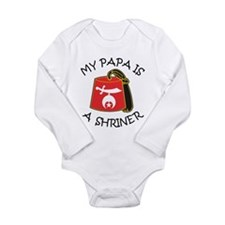 My Papa Is A Shriner Long Sleeve Infant Bodysuit