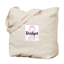 Bridget pink ribbon Tote Bag