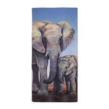 Elephants Mom Baby Beach Towel