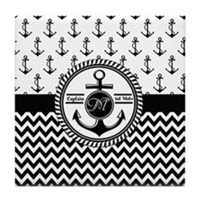 Nautical Captain and First Mate Customizable Tile