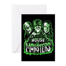 Monsters Haunted House Greeting Cards (Pk of 20)