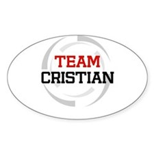 Cristian Oval Decal