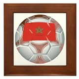 Morocco Football Framed Tile