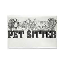 Pet Sitter Rectangle Magnet (10 pack)