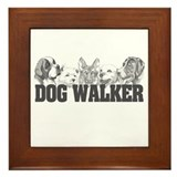 Dog Walker Framed Tile