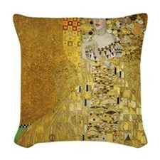 Adele Bauer by Klimt Woven Throw Pillow