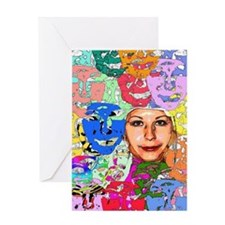 different colours of Natasha Greeting Card