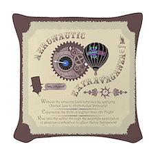 Cryptonaut Aeronautic Woven Throw Pillow