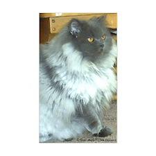 Playful Blue Persian Cat Rectangle Sticker