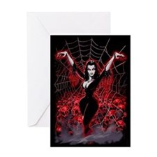 Vampire Queen Vampira Greeting Card