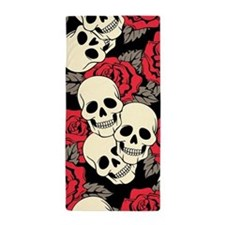 Flowers and Skulls Beach Towel