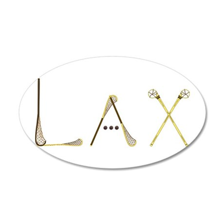 Lax Traditional 20x12 Oval Wall Decal