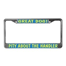Pity About the Handler License Plate Frame