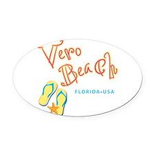 Vero Beach - Oval Car Magnet