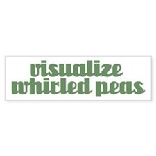 VISUALIZE PEAS Bumper Bumper Sticker