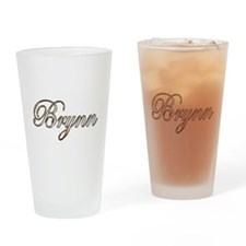 Gold Brynn Drinking Glass