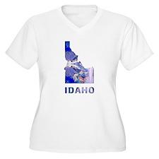 IDAHO MAP Plus Size T-Shirt