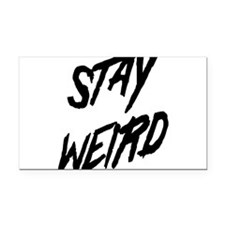 Stay Weird Rectangle Car Magnet