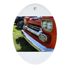 Old Orange Chevrolet Truck Ornament (Oval)