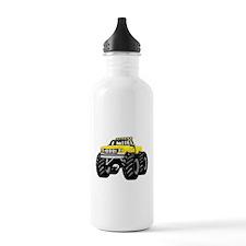 Yellow MONSTER Truck Water Bottle
