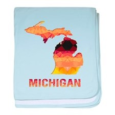 Cute Michigan baby blanket