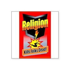 "Cool Religion beliefs Square Sticker 3"" x 3"""