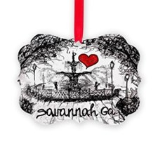 I love savannah Ga Ornament