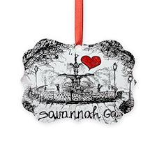 I love savannah Ga Picture Ornament