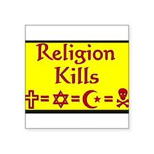 Religion Kills5 Sticker