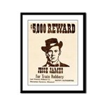 Wanted Jesse James Framed Panel Print