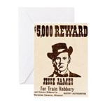 Wanted Jesse James Greeting Cards (Pk of 10)