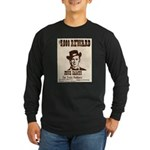 Wanted Jesse James Long Sleeve Dark T-Shirt