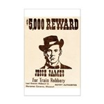 Wanted Jesse James Mini Poster Print