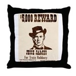 Wanted Jesse James Throw Pillow