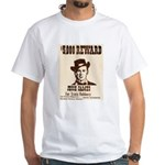 Wanted Jesse James White T-Shirt