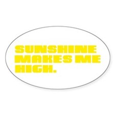 SUNSHINE HIGH Oval Decal