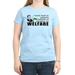 I Work Hard Women's Light T-Shirt