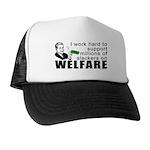 I Work Hard Trucker Hat
