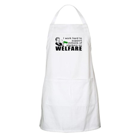 I Work Hard BBQ Apron
