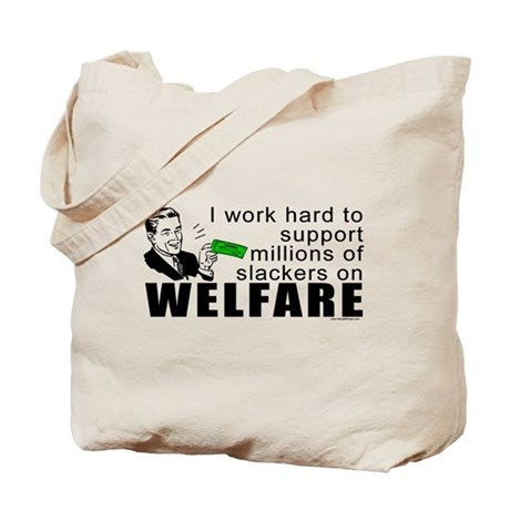 I Work Hard Tote Bag
